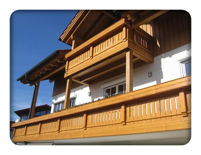 holzbalkone balkon zaun bausysteme allg u ug. Black Bedroom Furniture Sets. Home Design Ideas